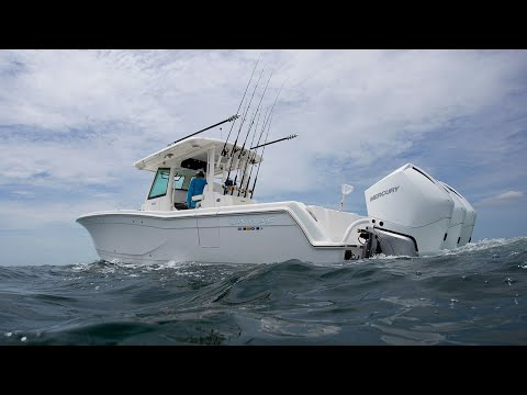 Caymas 341 Review: Stow-N-Go Seating Transforms this Center Console for Fishing | Florida Sportsman