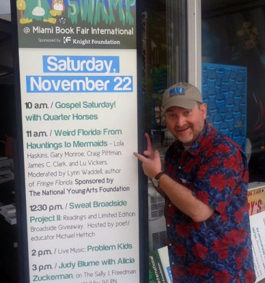 Craig Pittman, author of The Scent of Scandal, excited to participate in the Weird Florida panel!