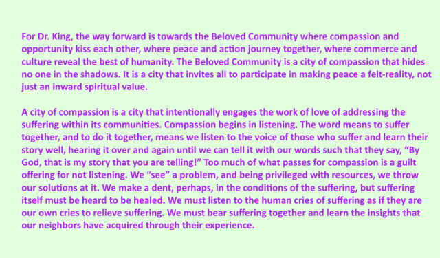 Beloved Community as compassionate listening