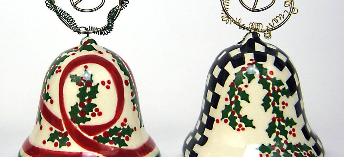 Ceramic bells Jennifer Sutton-Roe holiday boutique 2020