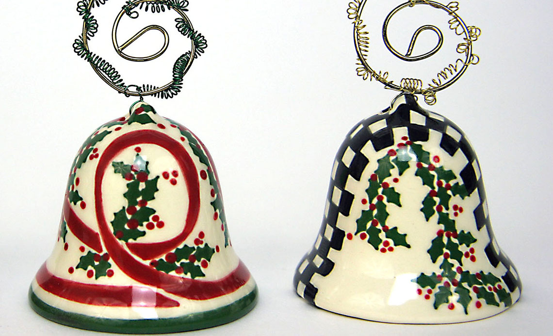 Ceramic bells Jennifer Sutton-Roe holiday boutique 2020