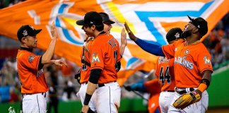 Ellis Lifts Marlins to 6-5 Win over Diamonds