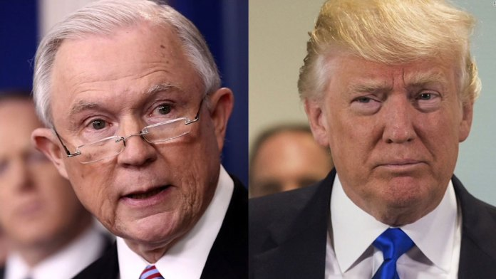 President Trump Rages at attorney general Jeff Sessions