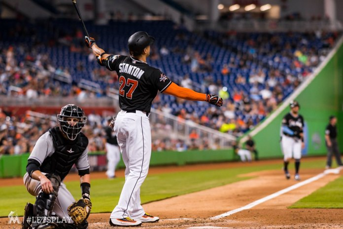 Giancarlo Stanton Hits his 41st Homer