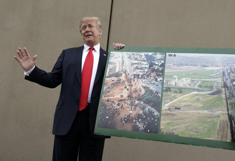 Trump Views Designs for Border Wall While Bashing California - No Way to Gauge President Trump's Border Wall Promises