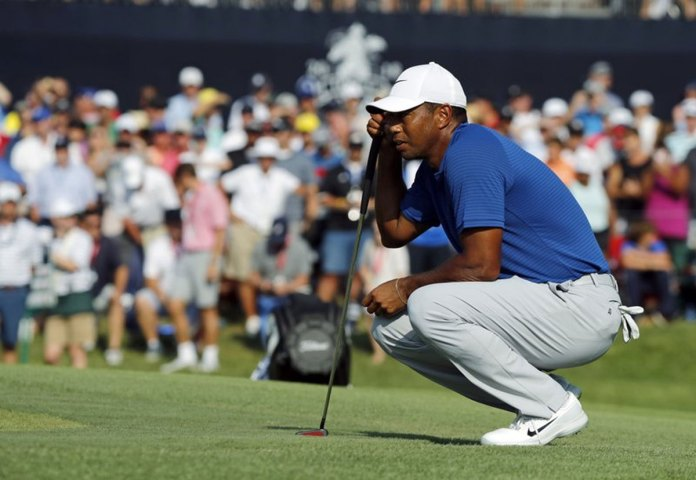 Tiger Woods Moves up the Board at PGA Anyway