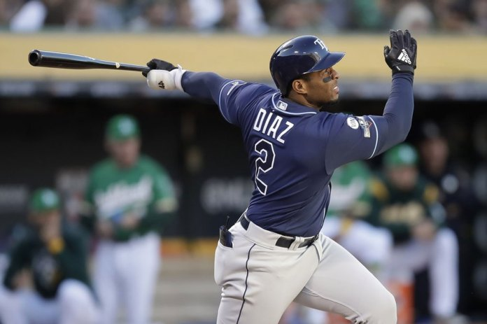 Diaz hits 2 homers, Rays beat A's 5-1 in AL wild-card game