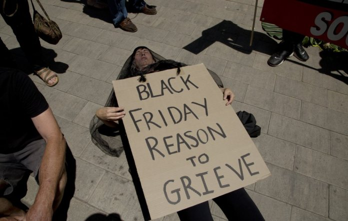 Black Friday Frenzy Goes Global - and not Everyone's Happy protests
