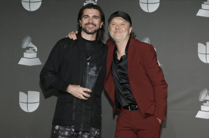 Latin Grammys CelebrateS 20 Years with Massive Performance JUanes Lars Ulrich