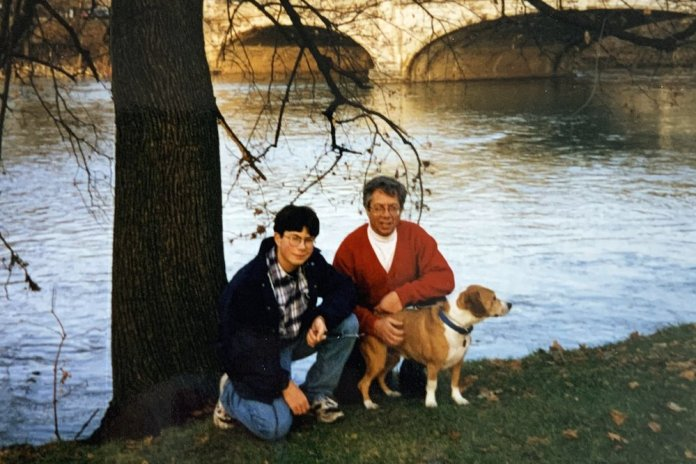 Pete Buttigieg Aimed High Early - Pete in 1995 with his father