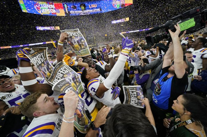 LSU finishes No. 1 in AP Top 25 for third time