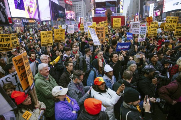 Protests Across US Condemn Action in Iran and Iraq