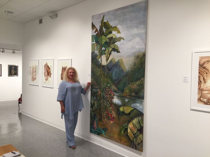 Talin Lyman's Art of Lush Landscape, Wine Included