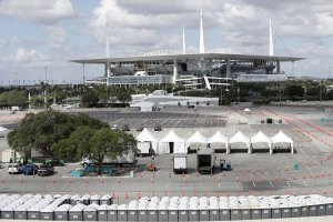 Hard Rock Stadium Turned Coronavirus Drive-thru Testing Site