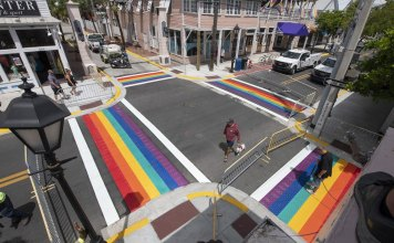 Rainbow crosswalks return to Key West permanently