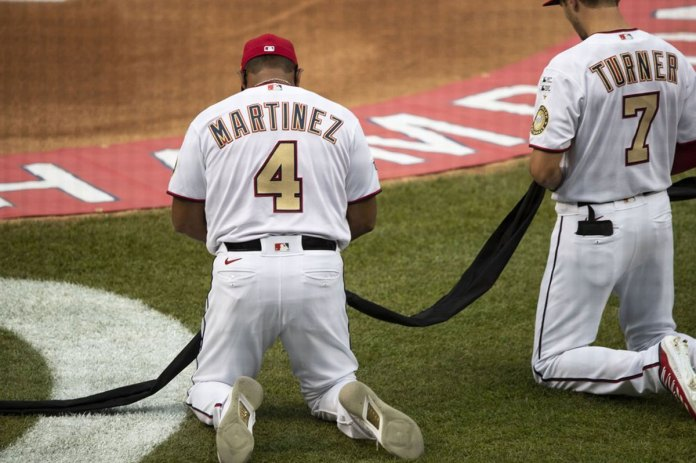 Opening Day: Yanks, Nats kneel in Black Lives Matter salute; Fauci's toss