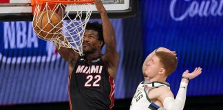 Butler scores 40, Heat top Bucks 115-104 for 1-0 series lead