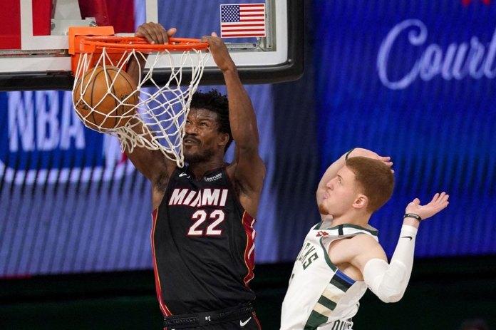Butler scores 40, Heat top Bucks 115-104 for 1-0 series lead