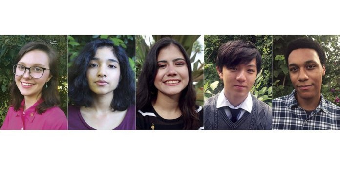 Five high schoolers named National Student Poets
