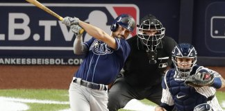 Lowe, Meadows lead Rays to a 6-3 win over Yankees.