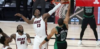 Adebayo's block helps Heat win Game 1 over Celtics