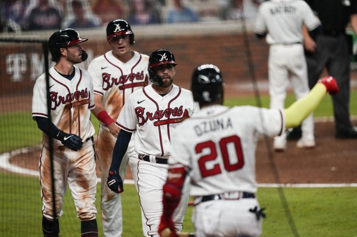 Braves score franchise record 29 runs in romp of Marlins