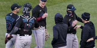 Cooper homers, Sanchez dominates, Marlins knock out Cubs 2-0