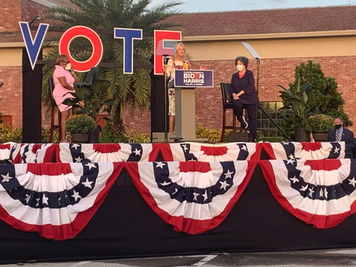 Jill Biden hosts 'Women for Biden' rally at Century Village in Boca Raton