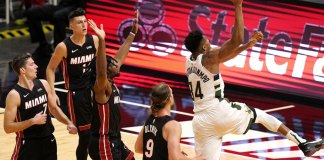 Bucks set NBA record for 3s with 29 in 114-97 romp over Heat