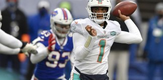 Bills eliminate Dolphins with 56-26 rout; set to host Colts
