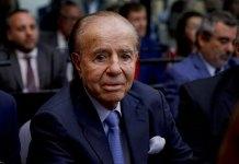 Flamboyant former Argentine President Carlos Menem dies