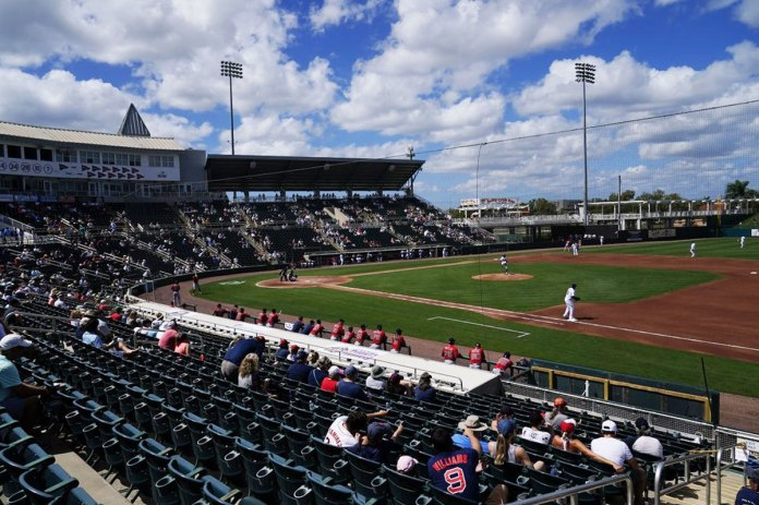 Spring games begin with fans, new faces