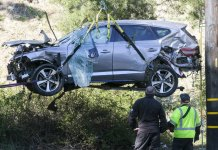 Cause of Tiger Woods crash found, officials won't reveal it