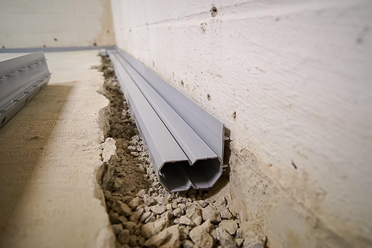 Basement gutters