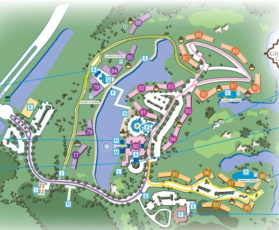 Marriott Grande Vista Resort Map of the Property