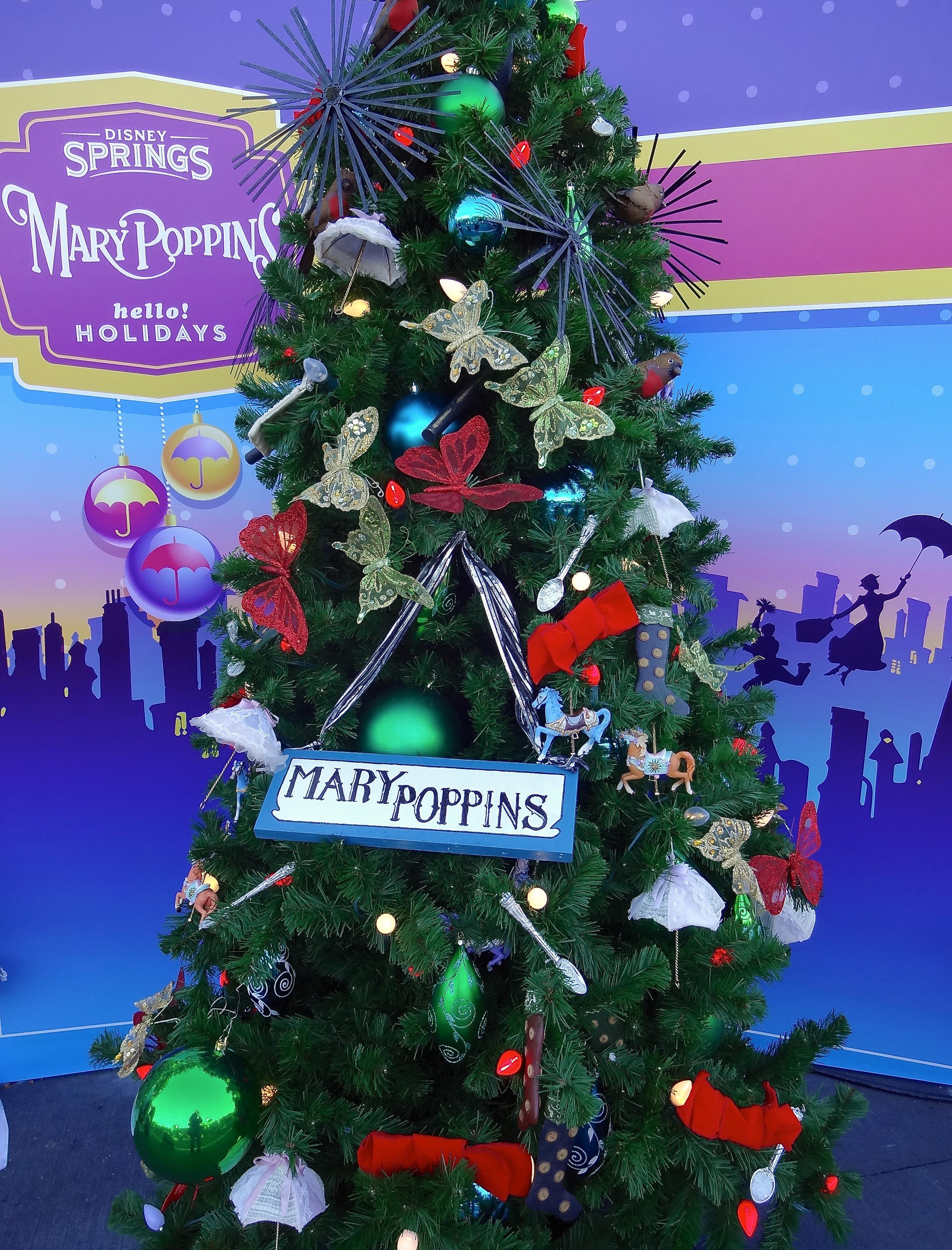 mary poppins themed christmas tree