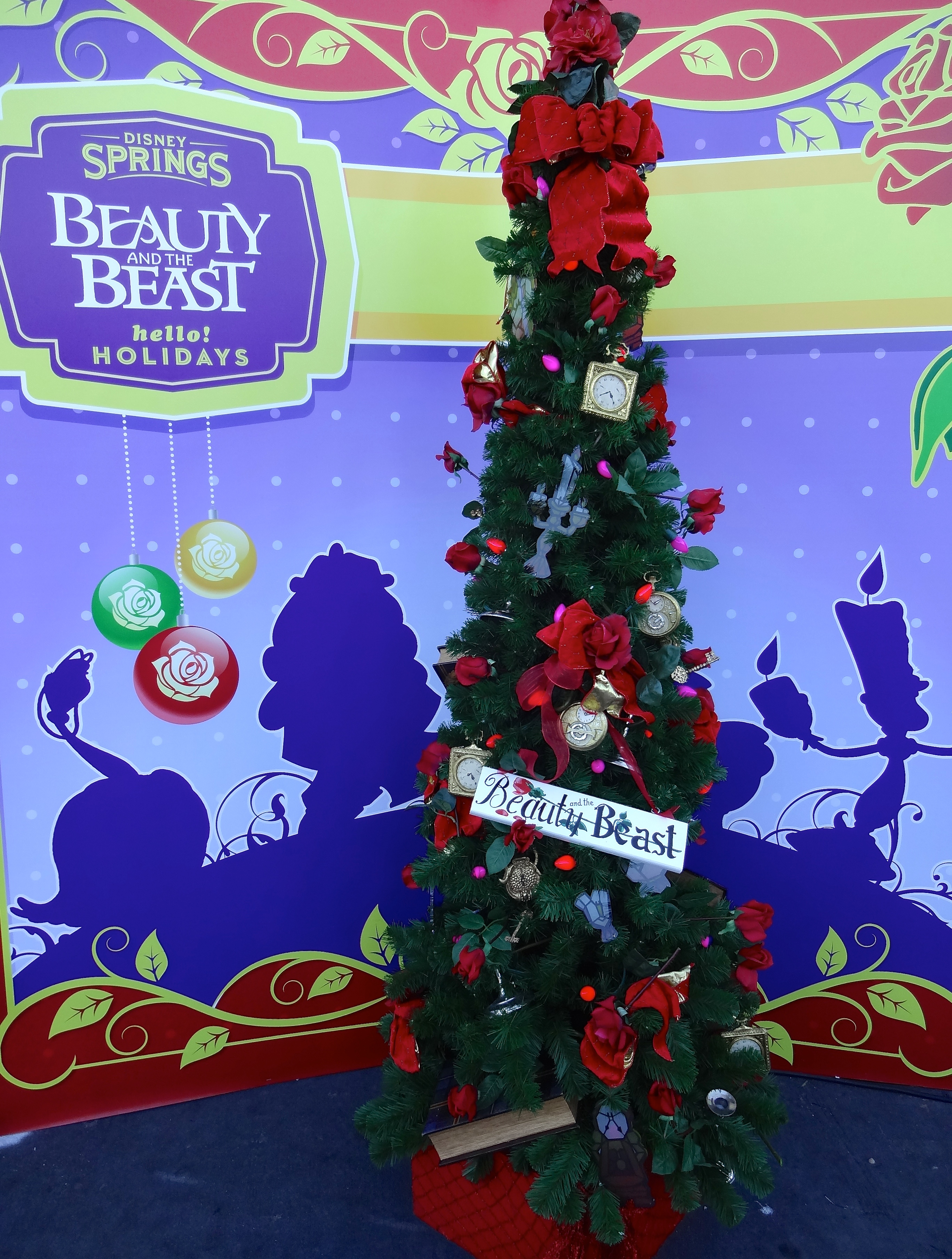 beauty and the beast themed christmas tree - Disney Beauty And The Beast Christmas Decorations