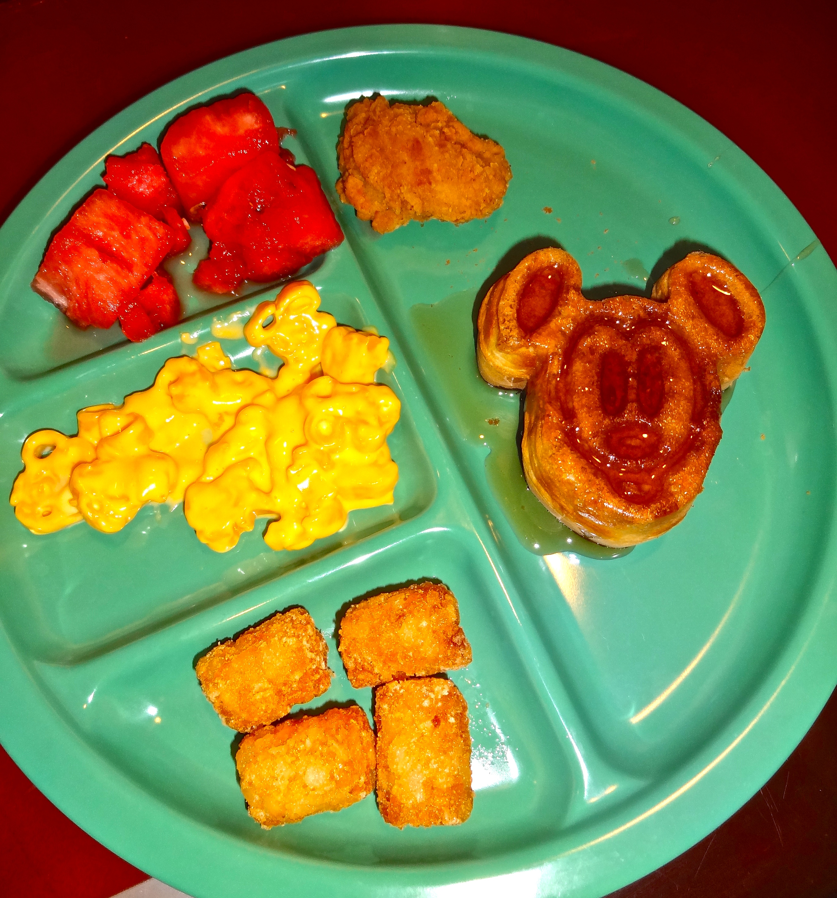 Apollo's Brunch Items from the Kids Buffet Station at Chef Mickey's