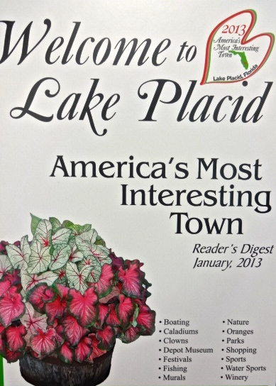 Lake Placid Florida - America's Most Interesting Town as Voted by Reader's Digest