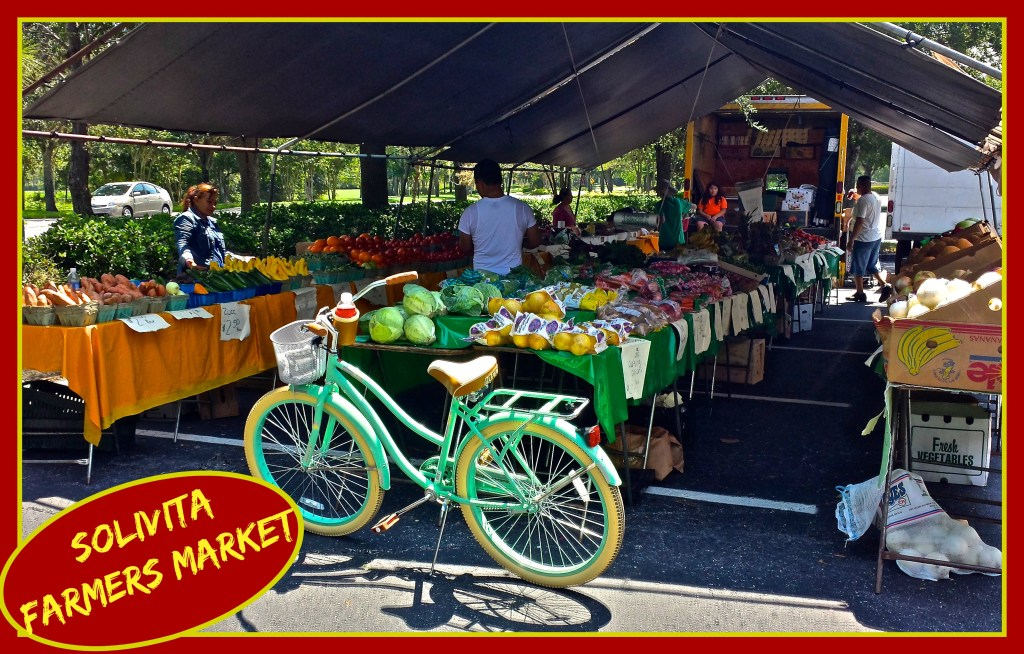 Shopping at the Solivita Farmers Market with My Huffy!