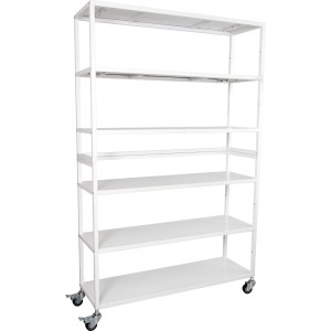 Vertical Grow Shelf Unit - 6 Shelves w/Wheels