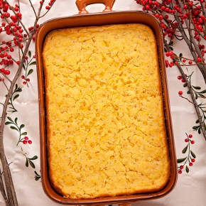 corn souffle, corn, side dish, entertaining, holidays, christmas, thanksgiving, souffle