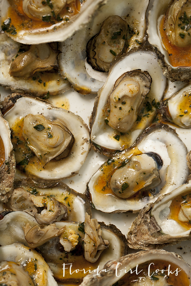 grilled oysters with spicy tarragon butter, grilled oysters, seafood, grilling , Bobby Flay, Food and Wine, appetizers, New Years Eve entertaining