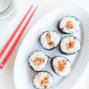 teriyaki shrimp sushi rolls, sushi, shrimp, seafood dinner, sushi dinner, easy to make sushi, sushi at home, florida girl cooks