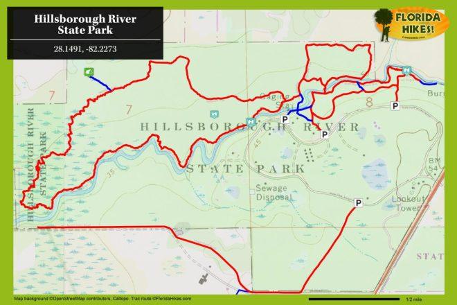 Hillsborough River State Park trail map