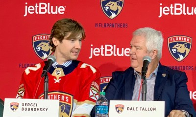 Dale Tallon with Sergei Bobrovsky