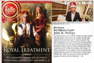 2013 Best of Jax Folio Weekly Lawyer John Phillips