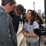 Attorney Reid Hart and Attorney T.C. Roberts with Lucia McBath