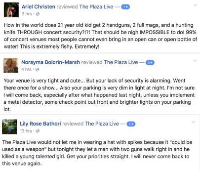 Plaza Live Security Concerns