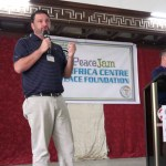Peace Jam Ghana 2016: Jacksonville Lawyer John Phillips giving a speech
